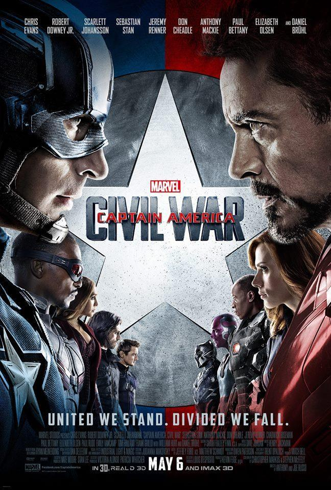 Captain America: Civil War, Capital America, Guerra Civil, cine, película, Blog de Cine, Solo Yo, Blog Solo Yo, Cartelera, Cartel, NosVamosAlCine, Marvel, Comics, Secuela, Thriller, Fantástico, Acción, Iron Man, SpiderMan,