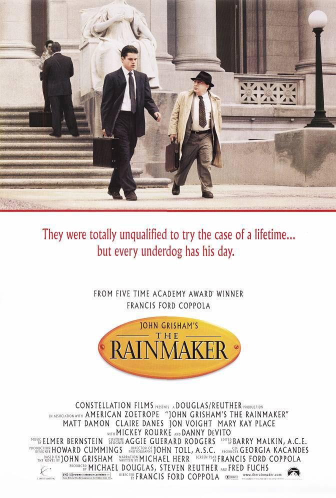 an analysis of john grishams film the rainmaker directed by francis ford copolla A persuasive paper john grishams the rainmaker, a novel and now a movie by francis ford copolla it is the sixth novel to film  film francis ford.