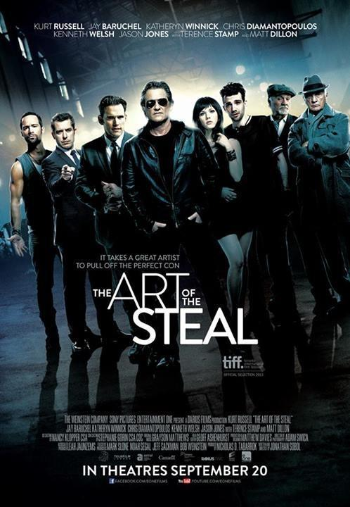 cartel, portada, película, the art of the steal, el arte de robar, Kurt Russell, Jay Baruchel, Katheryn Winnick, Chris Diamantopoulos, Kenneth Welsh, Jason Jones, Terence Stamp, Matt Dillon
