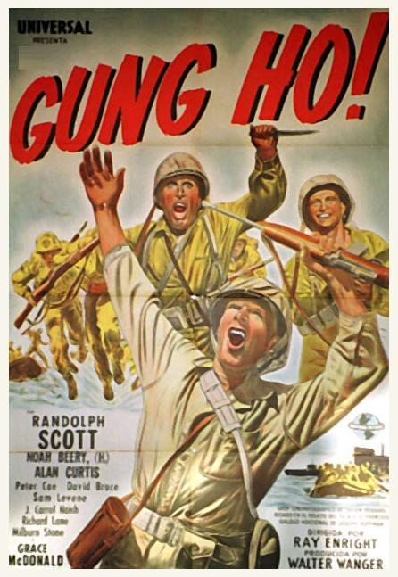 gung ho plot Gung ho has a number of verbal and sight gags -- like the town of hadleyville turning out (chinese) dragon dancers to greet the new japanese management team at the airport another is japanese managers saying one thing, with michael keaton hearing something different.