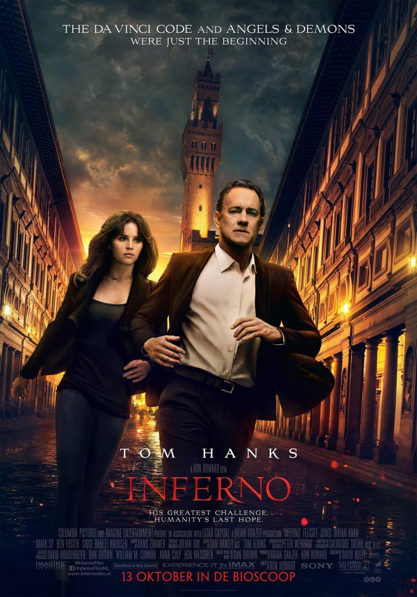 Tom Hanks, Inferno, Dante, Nos Vamos al Cine, película, cine, cartelera, thriller, intriga, secuela, David Koepp, Dan Brown, blogger alicante, solo yo, blog solo yo, influencer, blog de cine,
