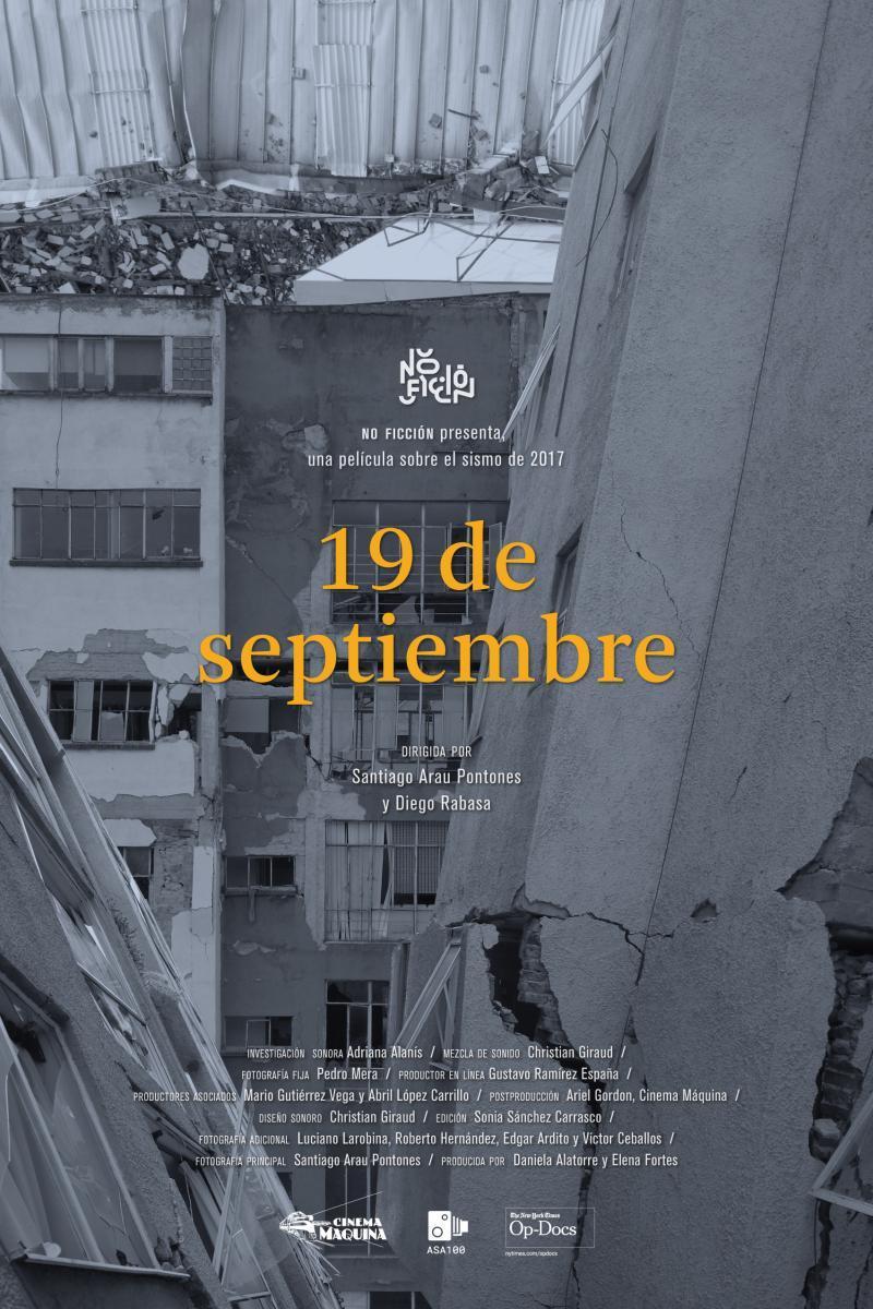 Resultado de imagen para 19 de septiembre, de Diego Rabasa y Santiago Arau