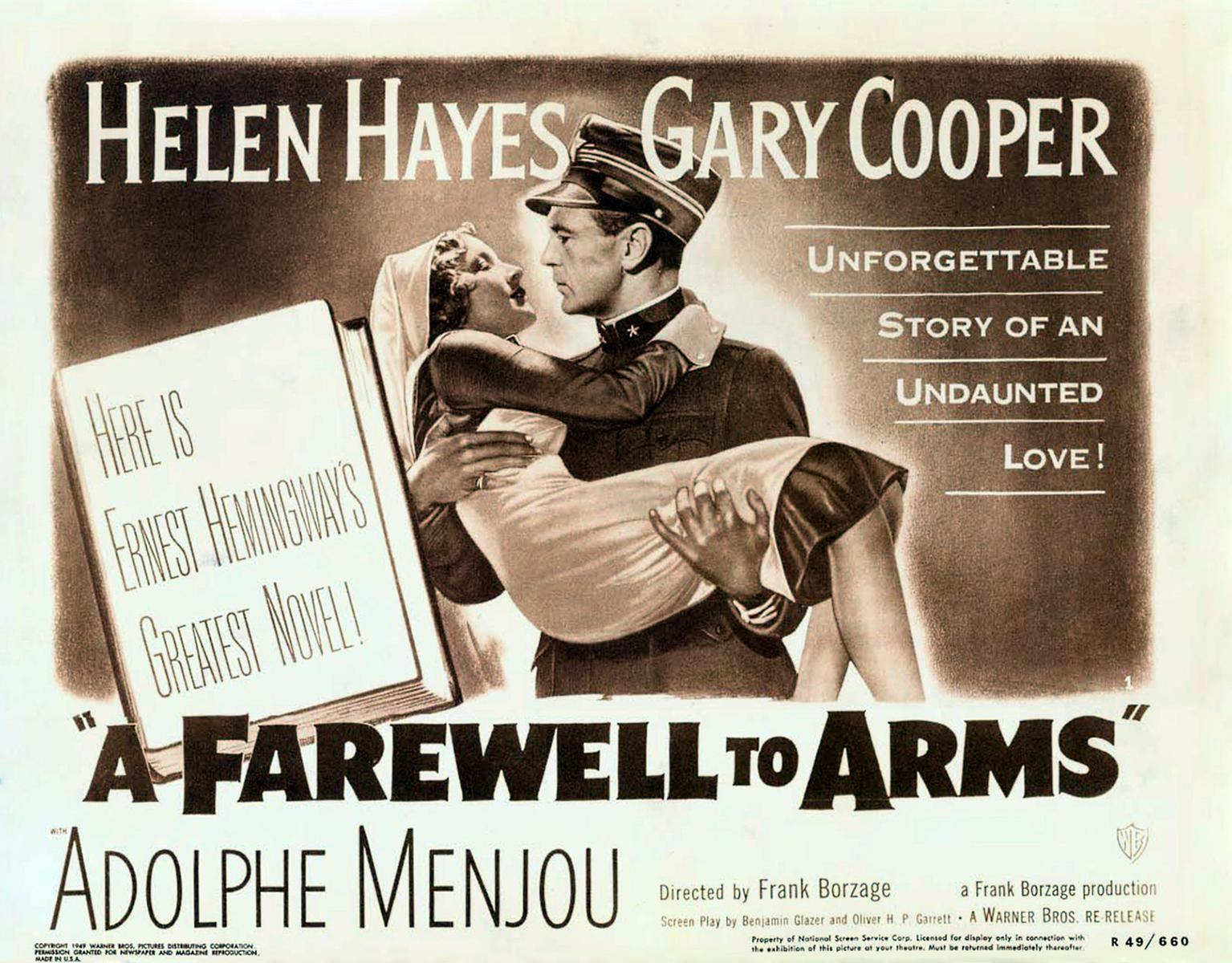 a farewell to arms essay on love I prefer the love portrayed in a farewell to arms for these reasons ensure you write concisely and keep referring to the essay question.