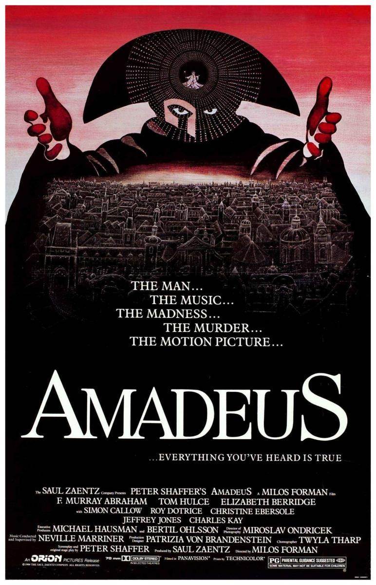 A plot summary of the movie about mozart called amadeus