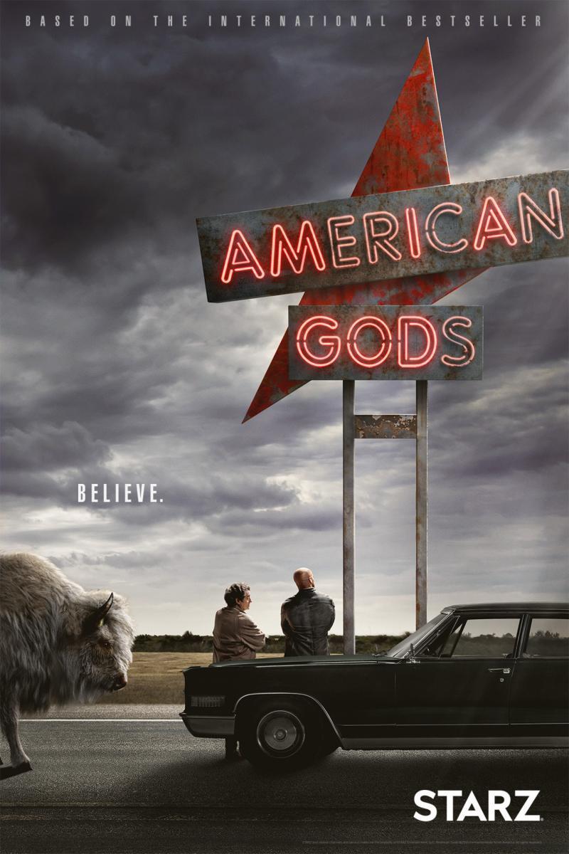 American Gods Temporada 1 (HD Latino – Ingles 720p) 2017