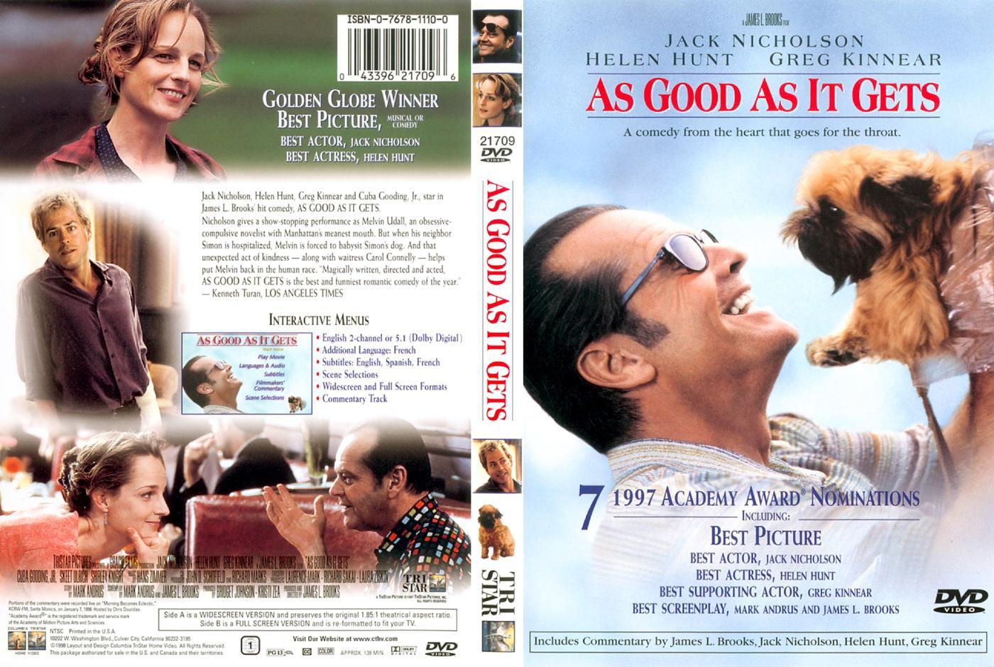 an analysis of the obsessive compulsive disorder in as good as it gets a film by james l brooks James l brooks author into as good as it gets with more energy but he also wrestles with an obsessive-compulsive disorder that has him.