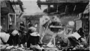Bombardeo de una casa (C)