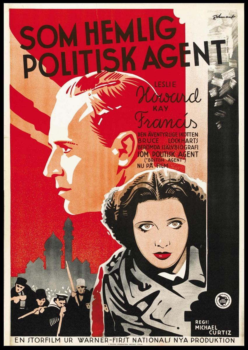 British agent Leslie Howard 1934 vintage movie poster