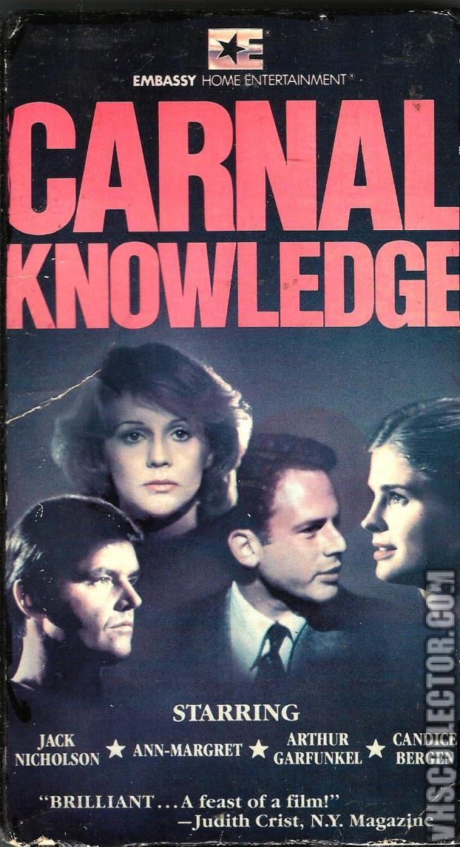boyle carnal knowledge Carnal knowledge is a 1971 film about the sexual and emotional confusion of two men from their amherst college days in the fifties through the kennedy sixties, up to the vietnam era directed by mike nichols written by jules feiffer is this an ultimatum.