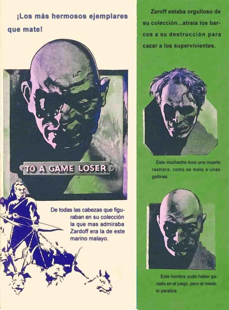 Sección visual de El malvado Zaroff - FilmAffinity