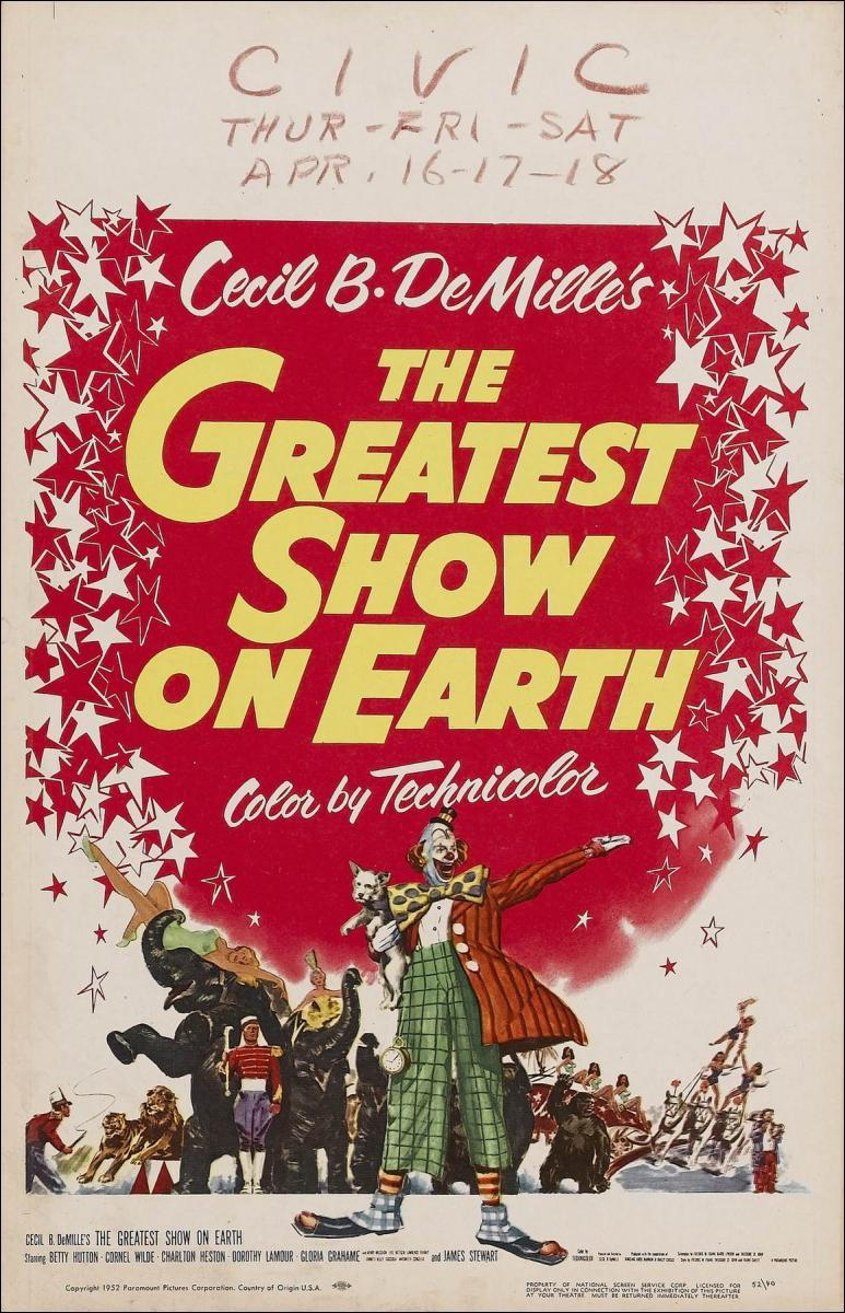 The greatest show on Earth Cecil B DeMille poster print 3