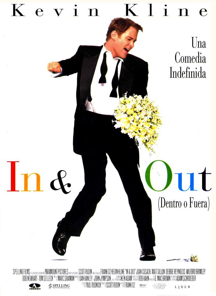 poster de la película de comedia In and Out