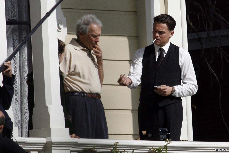 Clint Eastwood con Leonardo Di Caprio