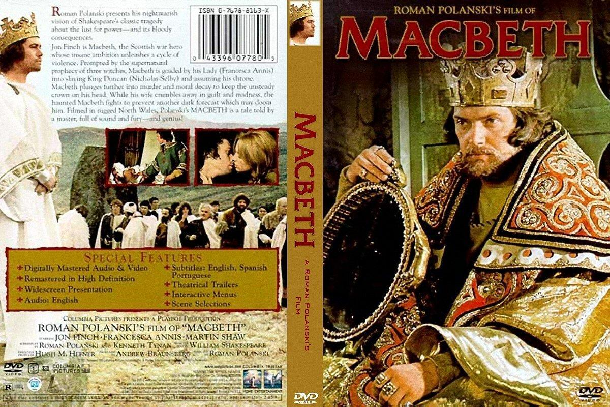 a comparison of shakespeares macbeth and its film adaptation by roman polanski Roman polanski's film depicts macbeth with 1970's style censoring- no explicitly violent or sexual scenes but traditional hints at what is happening wrights' version is essentially a film from a totally different time period- showing excessive violence to help the modern audience understand what is.