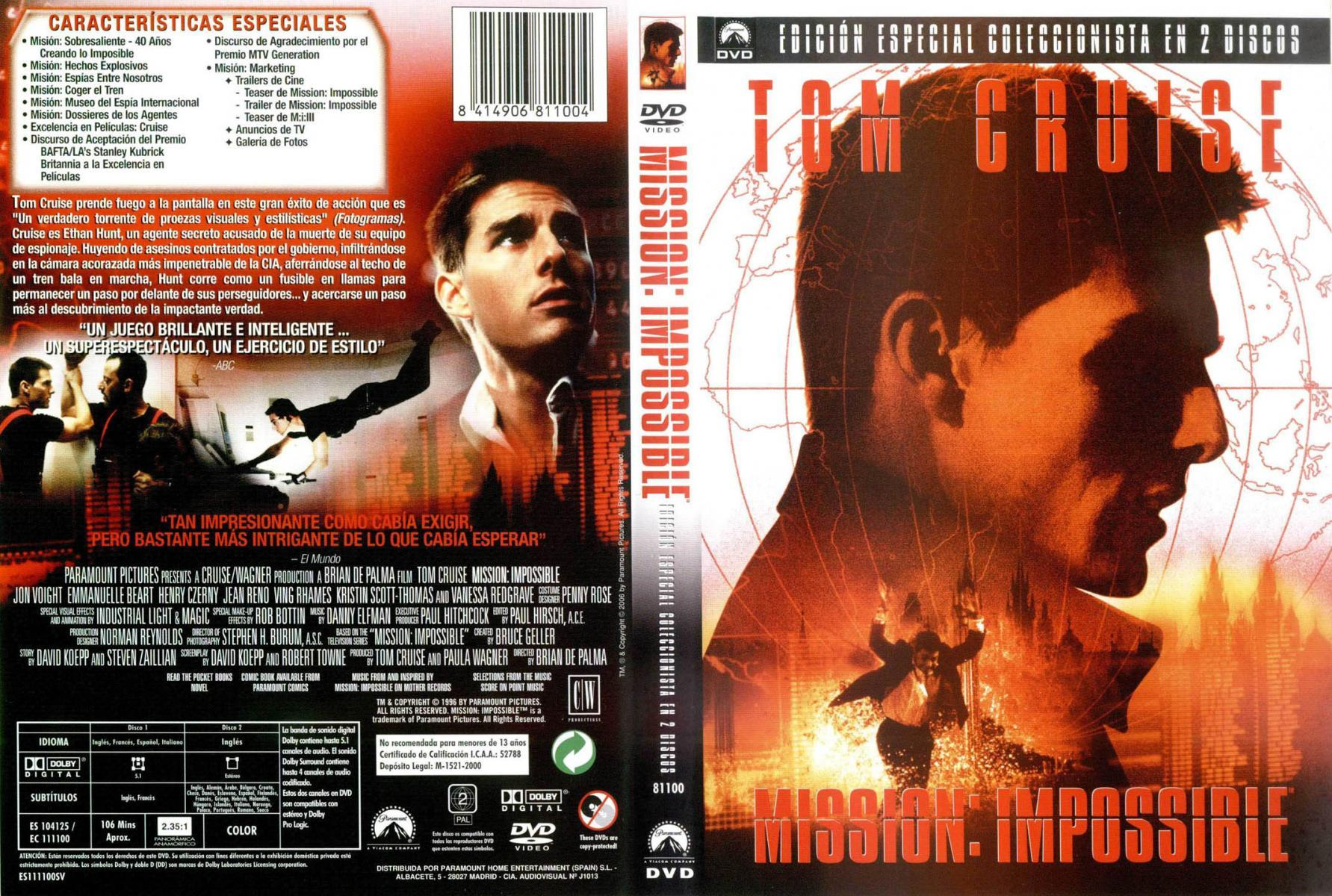 Mission Impossible 1996 Filmaffinity