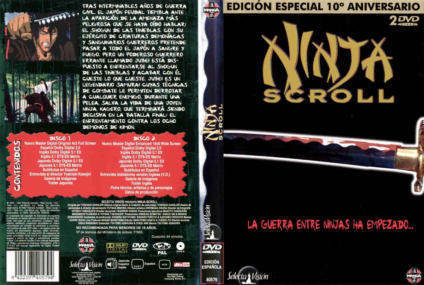 Ninja Scroll 1993 Filmaffinity
