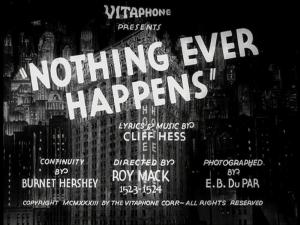 Nothing Ever Happens (C)