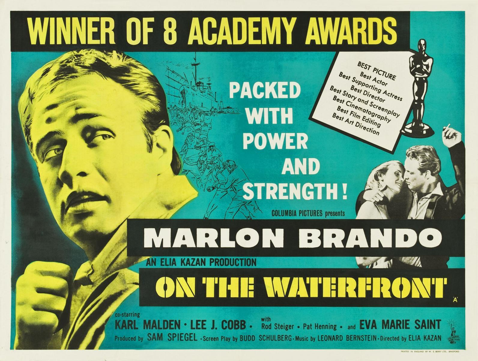 "How does ""On the Waterfront"" use Christian symbolism and imagery"