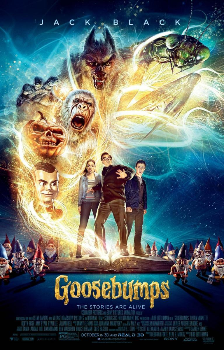 cartelera, cartel, blog de cine, solo yo, blog solo yo, aventuras, terror, fantástico, comedia de terror, sobrenatural, monstruos, película, cine, Goosebumps, pesadillas,