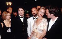 Amanda Plummer, John Travolta, Bruce Willis, Uma Thurman & Quentin Tarantino en el Festival de Cannes 1984