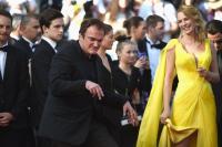 Quentin Tarantino & Uma Thurman en el Festival de Cannes 2014
