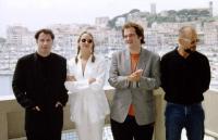 John Travolta, Uma Thurman, Quentin Tarantino & Bruce Willis en el Festival de Cannes 1984