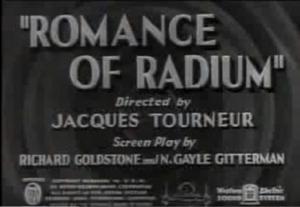 Romance of Radium (C)
