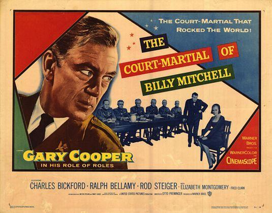 the court martial of billy mitchell The court-martial of billy mitchell (1955):a dramatization of the american general and his court martial for publically complaining about high command's dismissal and neglect of the aerial fighting forces.