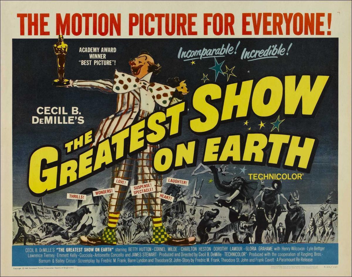 The Greatest Show on Earth  (1952) – Drama, Family, Romance
