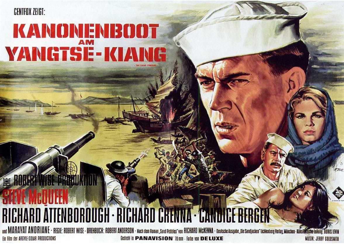 Kanonenboot Am Yangtse-Kiang Stream