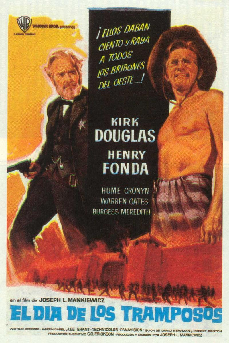 there was a crooked man Kirk Douglas movie poster