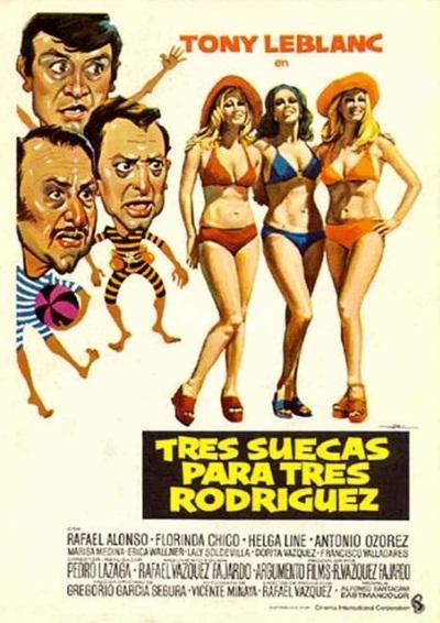 Tres suecas para tres Rodríguez (1975) - Filmaffinity