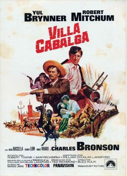 Villa rides Charles Bronson vintage movie poster