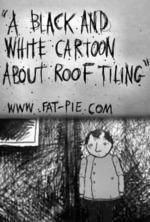 A Black and White Cartoon About Roof Tiling (C)
