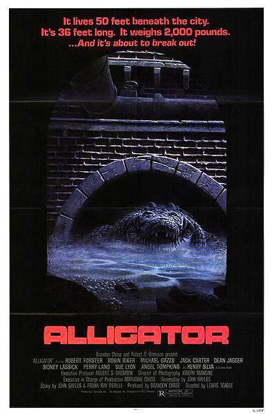 Cartel original de la película: Alligator.