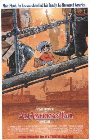 póster de la película Fievel y el nuevo mundo