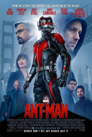 póster de la película de superhéroes Ant man