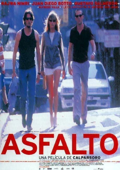 Cartel original de la película: Asfalto.