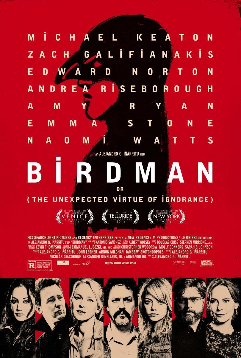 Resultado de imagen para Birdman (La Inesperada Virtud De La Ignorancia) [2014]