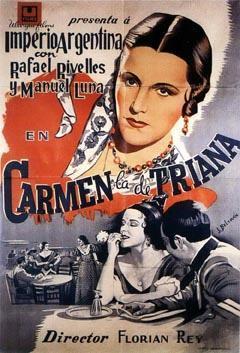 """Resultado de imagen de """"Carmen la de Triana""""    1938 de Florián Rey"""