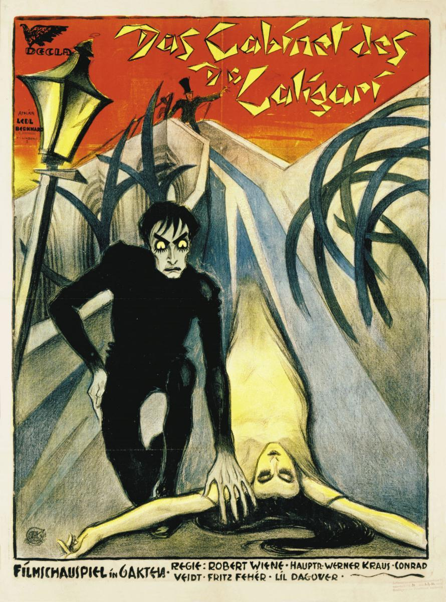 expressions in horror dr caligari and The cabinet of dr caligari is one of the first horror films, one of the first  an  artistic expression that cuts through and discards a false exterior.