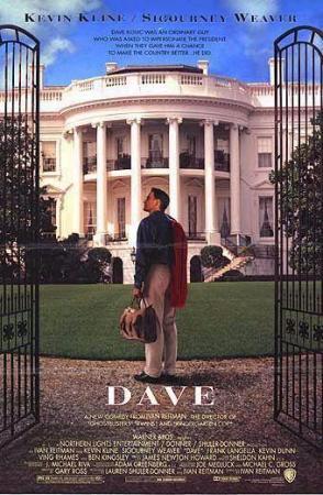 Póster de la película cómica Dave, presidente por un día