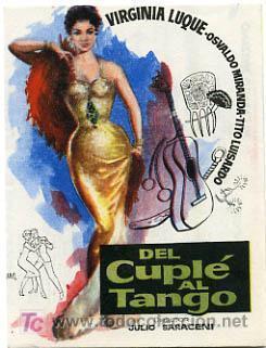 Risultati immagini per del cuplé al tango pelicula