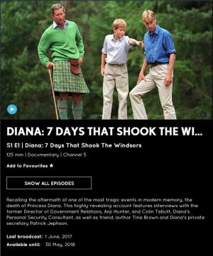 Diana: 7 Days That Shook the Windsors (TV)