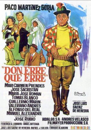 póster de la película cómica española Don Erre que Erre