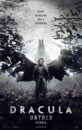 póster de la película de fantasía Drácula, la leyenda jamás contada