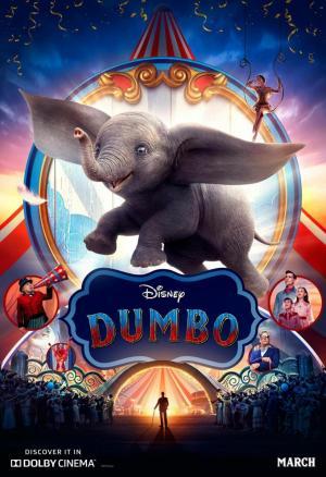 Portada de la película de fantasía infantil Dumbo
