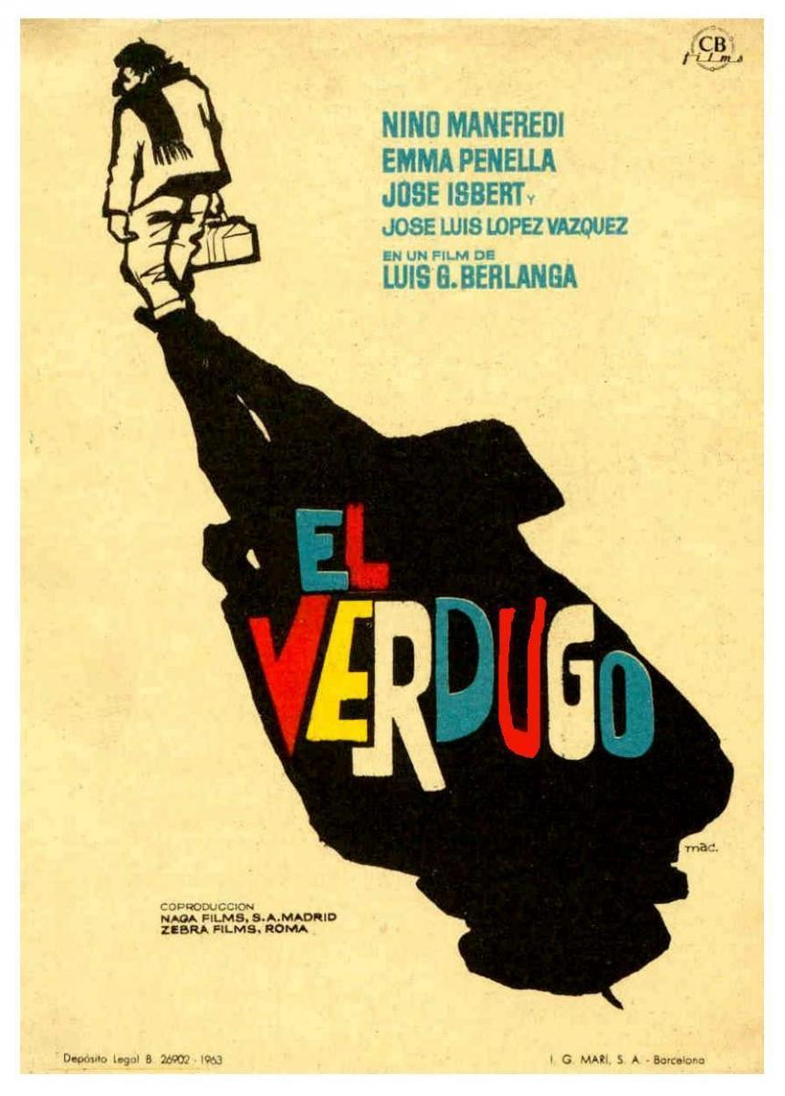 Cartel de la película El verdugo, de Luis García Berlanga (1963).