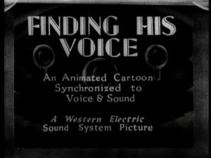 Finding His Voice (S)