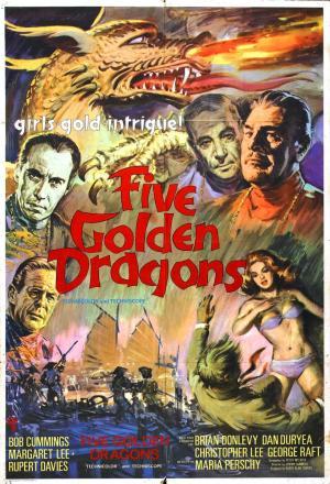 Cinco dragones de oro